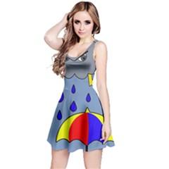 Rainy day Reversible Sleeveless Dress