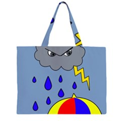Rainy day Large Tote Bag