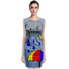 Rainy Day Classic Sleeveless Midi Dress