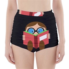 Brainiac  High-Waisted Bikini Bottoms