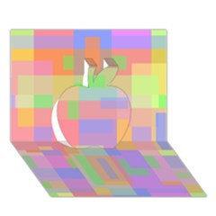 Pastel decorative design Apple 3D Greeting Card (7x5)