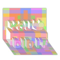 Pastel decorative design You Did It 3D Greeting Card (7x5)