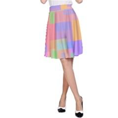 Pastel decorative design A-Line Skirt