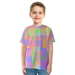 Pastel decorative design Kid s Sport Mesh Tee