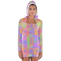Pastel Decorative Design Women s Long Sleeve Hooded T Shirt