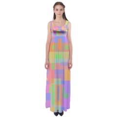 Pastel Decorative Design Empire Waist Maxi Dress