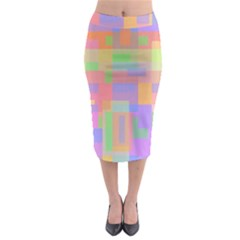 Pastel Decorative Design Midi Pencil Skirt