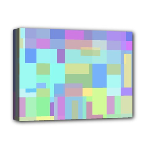 Pastel geometrical desing Deluxe Canvas 16  x 12