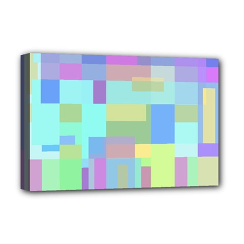 Pastel geometrical desing Deluxe Canvas 18  x 12