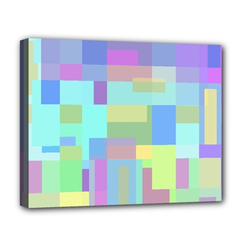 Pastel geometrical desing Deluxe Canvas 20  x 16