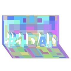 Pastel Geometrical Desing #1 Dad 3d Greeting Card (8x4)