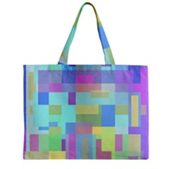 Pastel geometrical desing Zipper Mini Tote Bag