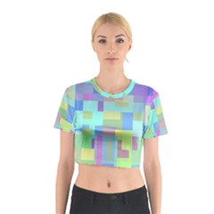 Pastel geometrical desing Cotton Crop Top