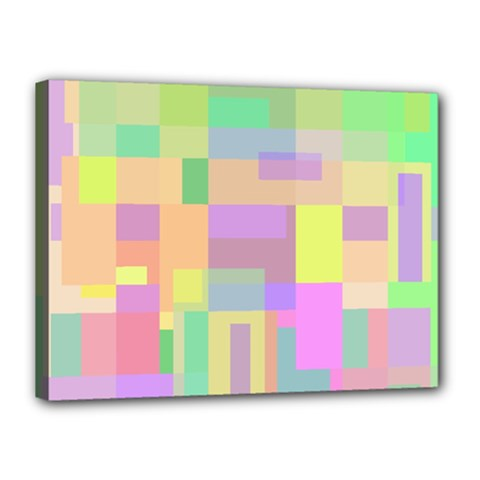 Pastel colorful design Canvas 16  x 12