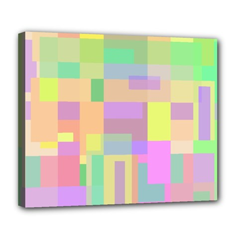 Pastel colorful design Deluxe Canvas 24  x 20