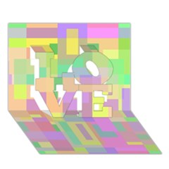 Pastel colorful design LOVE 3D Greeting Card (7x5)