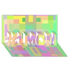 Pastel colorful design #1 MOM 3D Greeting Cards (8x4)