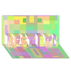 Pastel colorful design BEST BRO 3D Greeting Card (8x4)