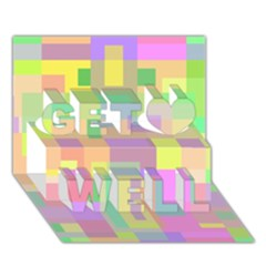 Pastel colorful design Get Well 3D Greeting Card (7x5)
