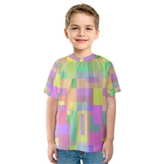 Pastel colorful design Kid s Sport Mesh Tee
