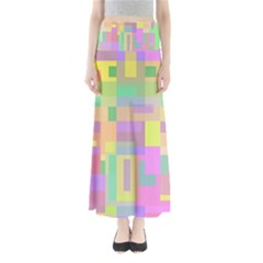 Pastel colorful design Maxi Skirts