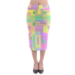 Pastel Colorful Design Midi Pencil Skirt