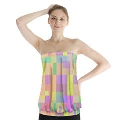 Pastel colorful design Strapless Top