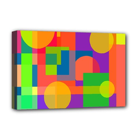 Colorful geometrical design Deluxe Canvas 18  x 12