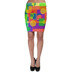 Colorful geometrical design Bodycon Skirt