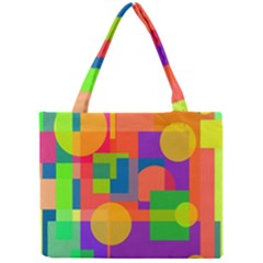 Colorful geometrical design Mini Tote Bag