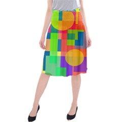 Colorful Geometrical Design Midi Beach Skirt