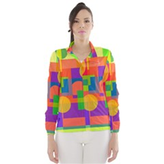 Colorful geometrical design Wind Breaker (Women)