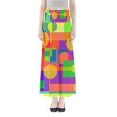 Colorful geometrical design Maxi Skirts