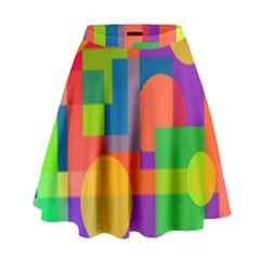 Colorful Geometrical Design High Waist Skirt