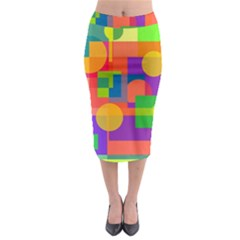 Colorful geometrical design Midi Pencil Skirt