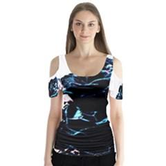 Pizap Com14437527104321 Butterfly Sleeve Cutout Tee