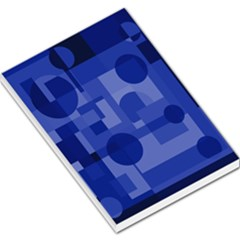Deep blue abstract design Large Memo Pads