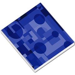 Deep blue abstract design Small Memo Pads