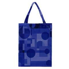 Deep blue abstract design Classic Tote Bag