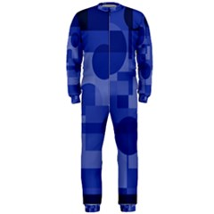 Deep blue abstract design OnePiece Jumpsuit (Men)