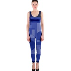 Deep blue abstract design OnePiece Catsuit