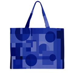 Deep blue abstract design Large Tote Bag