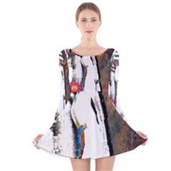 Pizap Com14370794604861 Long Sleeve Velvet Skater Dress