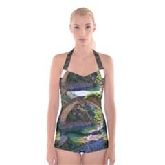 1008 2015 1125am Boyleg Halter Swimsuit