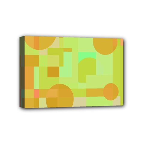 Green and orange decorative design Mini Canvas 6  x 4