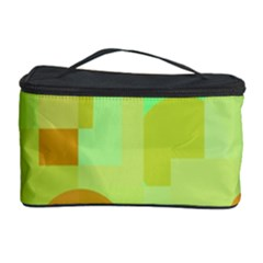 Green and orange decorative design Cosmetic Storage Case
