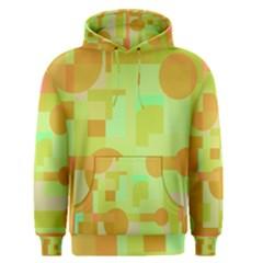 Green and orange decorative design Men s Pullover Hoodie