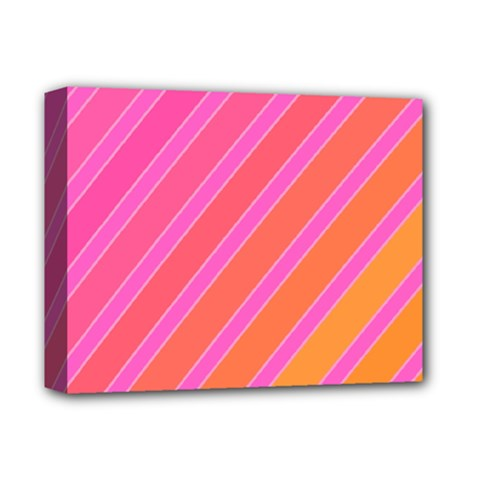 Pink elegant lines Deluxe Canvas 14  x 11