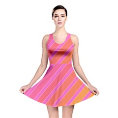 Pink elegant lines Reversible Skater Dress