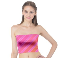 Pink elegant lines Tube Top